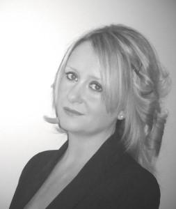 black and white photo of Sarah