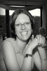 black and white photo of Julie Larner