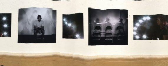 panoramic photo of display at art gallery