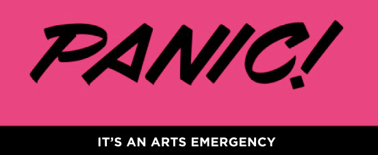 Panic it's an arts emergency logo