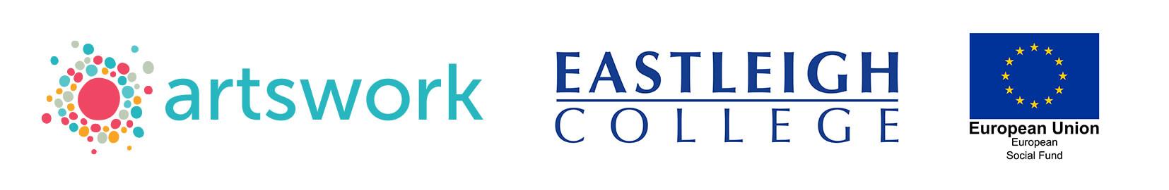 Artswork, Eastleigh College & European Union Social Fund logos